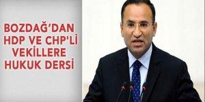 Bozdağ HDP ve CHP'li vekillere hukuk dersi