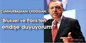 """Cumhurbaşkanı Erdoğan; """" Brüksel Ve Paris'ten endişe duyuyorum"""""""