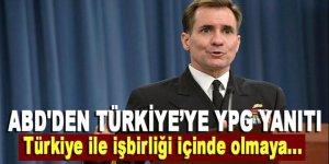 ABD'den Türkiye'ye 'YPG' yanıtı