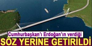 Erdoğan 3. Köprü çalışanlarına verdiği sözü tuttu