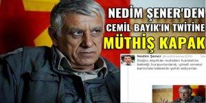 Nedim Şener'den Cemil Bayık twitine müthiş kapak