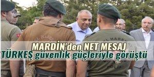 Türkeş'ten güvenlik güçlerine mesaj