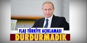 Putin: Türkiye'ye doğalgaz sevkiyatını bir gün bile durdurmadık