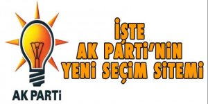 İşte AK Parti'nin yeni seçim sistemi