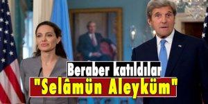 John Kerry ve Angelina Jolie iftar sofrasında buluştu