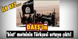 DAEŞ'in 'biat' metninin Türkçesi ortaya çıktı!