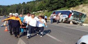 Samsun'da feci kaza: 37 yaralı