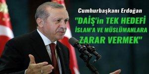 Cumhurbaşkanı Erdoğan: DAİŞ'in tek hedefi İslam'a ve Müslümanlara zarar vermek
