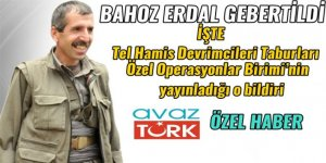 Tel Hamis Devrimcileri Taburları  Özel Operasyonlar Birimi'nin yayınladığı bildiriye AVAZTÜRK ekibi ulaştı