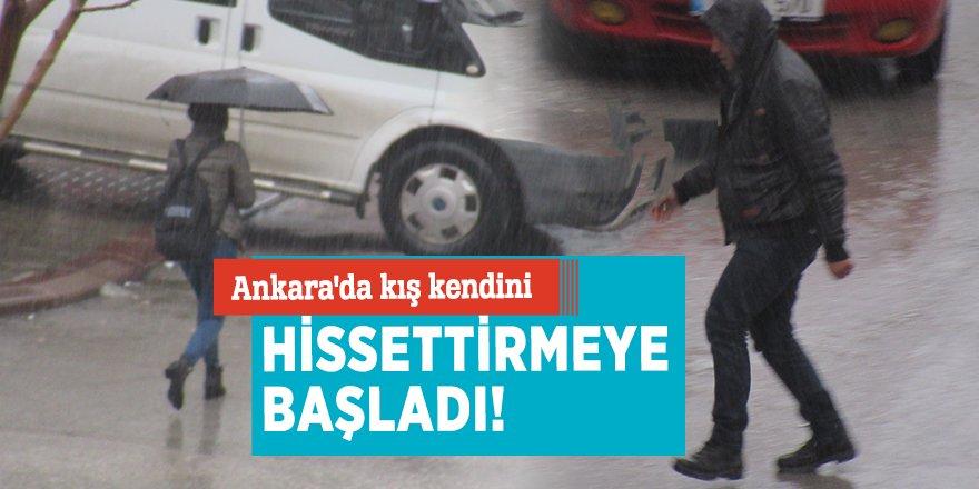 Ankara'da kış kendini hissettirmeye başladı!