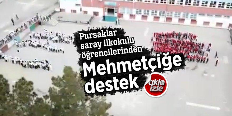 Pursaklar Saray İlkokulu öğrencilerinden Mehmetçiğe destek