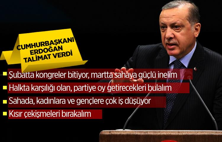 Cumhurbaşkanı Erdoğankritik talimatlar verdi