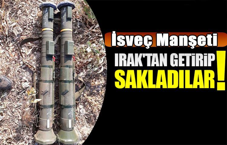 TSK paylaştı! Irak'tan getirip sakladılar...