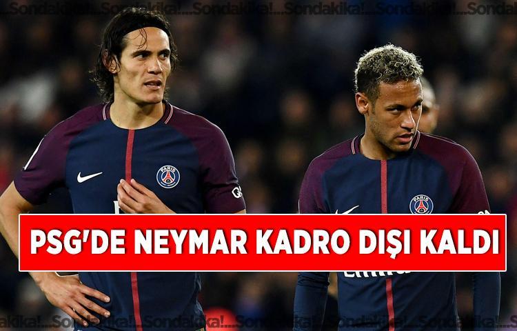 Son dakika: PSG'de Neymar kadro dışı kaldı