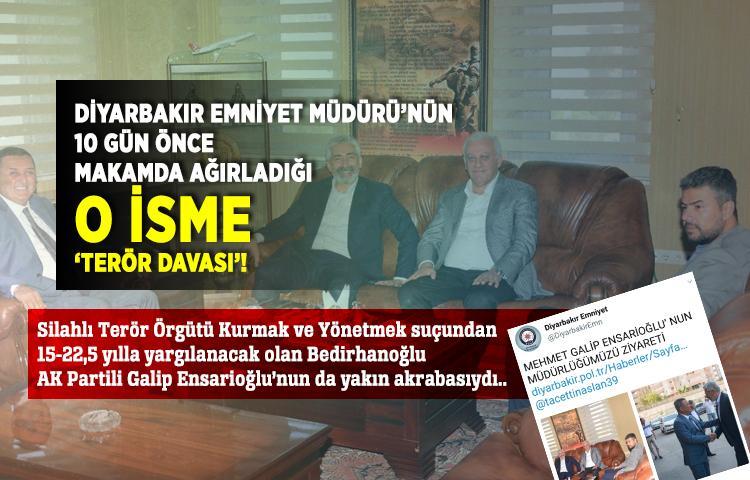Diyarbakır Emniyet Müdürü'nün 10 gün önce makamda ağırladığı o isme 'terör davası'!