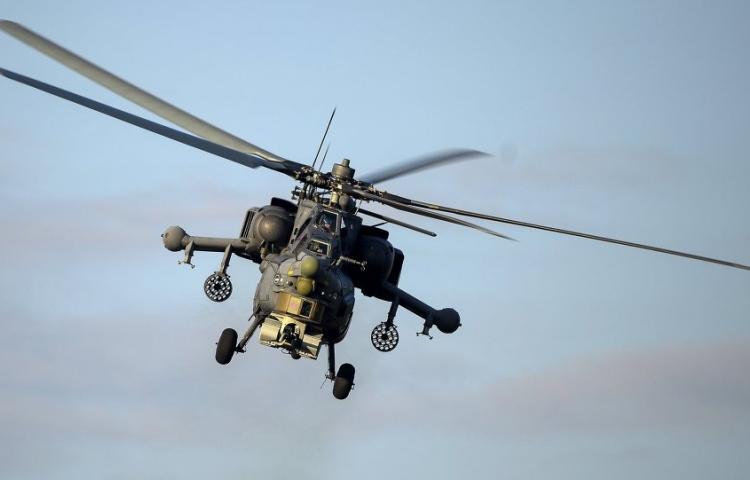 Rus savaş helikopterleri El Bab üzerinde