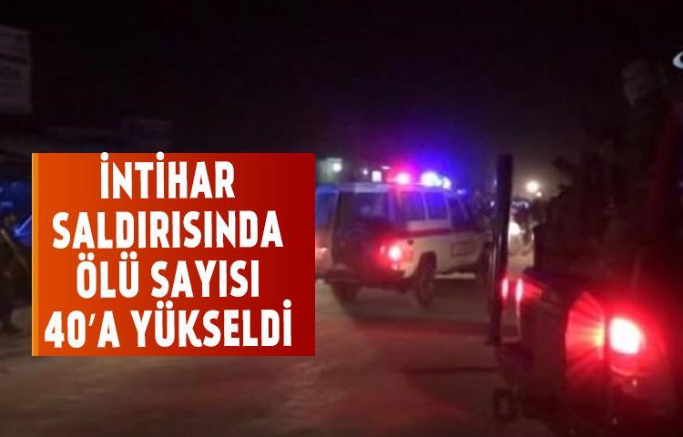 İntihar saldırısında ölü sayısı 40'a yükseldi